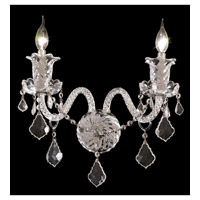 Elegant Lighting Elizabeth 2 Light Wall Sconce in Chrome with Elegant Cut Clear Crystal 7830W2C/EC