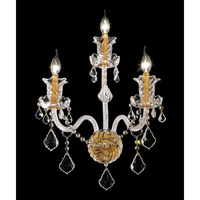 Elegant Lighting Elizabeth 3 Light Wall Sconce in Gold with Spectra Swarovski Clear Crystal 7830W3G/SA alternative photo thumbnail