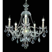 Elegant Lighting 7831D25C/SA Alexandria 5 Light 25 inch Chrome Dining Chandelier Ceiling Light in Spectra Swarovski alternative photo thumbnail