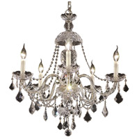 Elegant Lighting Alexandria 5 Light Dining Chandelier in Chrome with Elegant Cut Clear Crystal 7831D25C/EC