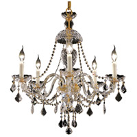 Elegant Lighting Alexandria 5 Light Dining Chandelier in Gold with Swarovski Strass Clear Crystal 7831D25G/SS