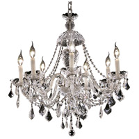 Elegant Lighting Alexandria 7 Light Dining Chandelier in Chrome with Elegant Cut Clear Crystal 7831D26C/EC