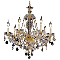 Elegant Lighting Alexandria 7 Light Dining Chandelier in Gold with Elegant Cut Clear Crystal 7831D26G/EC