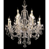 Elegant Lighting 7831D28C/SS Alexandria 12 Light 28 inch Chrome Dining Chandelier Ceiling Light in Swarovski Strass alternative photo thumbnail