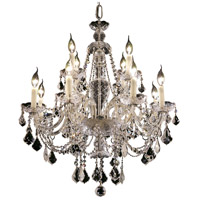 Elegant Lighting Alexandria 12 Light Dining Chandelier in Chrome with Elegant Cut Clear Crystal 7831D28C/EC