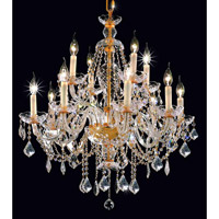Elegant Lighting Alexandria 12 Light Dining Chandelier in Gold with Royal Cut Clear Crystal 7831D28G/RC alternative photo thumbnail