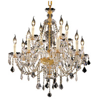 Elegant Lighting Alexandria 12 Light Dining Chandelier in Gold with Elegant Cut Clear Crystal 7831D28G/EC