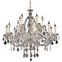 Elegant Lighting Alexandria 15 Light Foyer in Chrome with Swarovski Strass Clear Crystal 7831G35C/SS