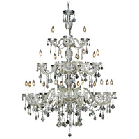 Elegant Lighting Alexandria 24 Light Foyer in Chrome with Swarovski Strass Clear Crystal 7831G45C/SS