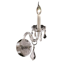 Elegant Lighting Alexandria 1 Light Wall Sconce in Chrome with Spectra Swarovski Clear Crystal 7831W1C/SA