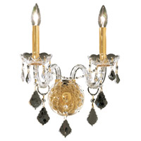 Elegant Lighting Alexandria 2 Light Wall Sconce in Gold with Swarovski Strass Clear Crystal 7831W2G/SS