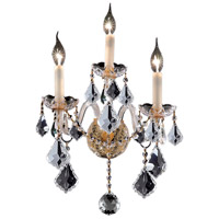 Elegant Lighting Alexandria 3 Light Wall Sconce in Gold with Swarovski Strass Clear Crystal 7831W3G/SS
