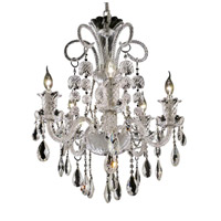 Elegant Lighting Elizabeth 5 Light Dining Chandelier in Chrome with Elegant Cut Clear Crystal 7832D25C/EC