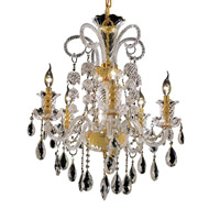 Elegant Lighting Elizabeth 5 Light Dining Chandelier in Gold with Swarovski Strass Clear Crystal 7832D25G/SS