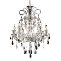 Elegant Lighting Elizabeth 6 Light Dining Chandelier in Chrome with Royal Cut Clear Crystal 7832D26C/RC
