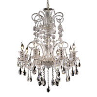 Elegant Lighting Elizabeth 8 Light Dining Chandelier in Chrome with Spectra Swarovski Clear Crystal 7832D29C/SA