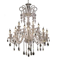 Elegant Lighting Elizabeth 12 Light Foyer in Chrome with Elegant Cut Clear Crystal 7832G33C/EC