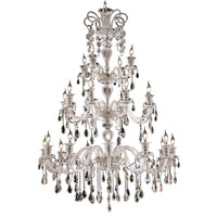 Elegant Lighting Elizabeth 24 Light Foyer in Chrome with Swarovski Strass Clear Crystal 7832G44C/SS