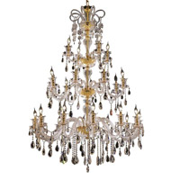 Elegant Lighting Elizabeth 24 Light Foyer in Gold with Swarovski Strass Clear Crystal 7832G44G/SS