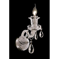 Elegant Lighting Elizabeth 1 Light Wall Sconce in Chrome with Swarovski Strass Clear Crystal 7832W1C/SS