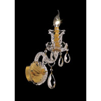 Elegant Lighting Elizabeth 1 Light Wall Sconce in Gold with Elegant Cut Clear Crystal 7832W1G/EC