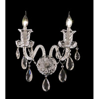 Elegant Lighting Elizabeth 2 Light Wall Sconce in Chrome with Elegant Cut Clear Crystal 7832W2C/EC