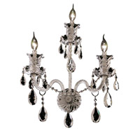 Elegant Lighting Elizabeth 3 Light Wall Sconce in Chrome with Elegant Cut Clear Crystal 7832W3C/EC