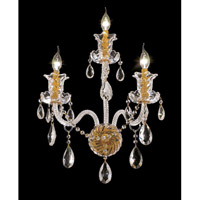 Elegant Lighting 7832W3G/SA Elizabeth 3 Light 14 inch Gold Wall Sconce Wall Light in Spectra Swarovski alternative photo thumbnail