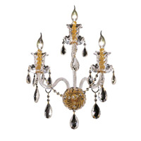 Elegant Lighting Elizabeth 3 Light Wall Sconce in Gold with Swarovski Strass Clear Crystal 7832W3G/SS