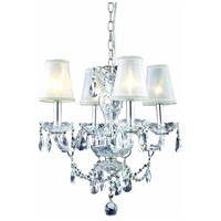 Princeton 4 Light 17 inch Chrome Pendant Ceiling Light in Clear, Silver Shade