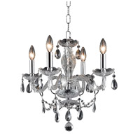 Elegant Lighting Princeton 4 Light Pendant in Chrome with Royal Cut Clear Crystal 7834D17C/RC