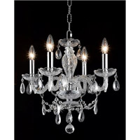 Elegant Lighting Princeton 4 Light Chandelier in White with Royal Cut White Crystals 7834D17WH/RC