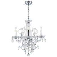 Elegant Lighting Princeton 5 Light Dining Chandelier in Chrome with Royal Cut Clear Crystal 7835D20C/RC