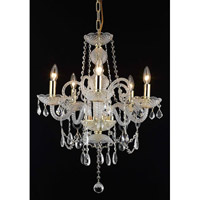 Elegant Lighting 7835D20G/RC Princeton 5 Light 20 inch Gold Dining Chandelier Ceiling Light in (None) alternative photo thumbnail