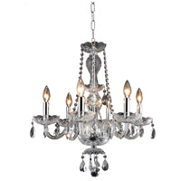 Elegant Lighting Princeton 6 Light Dining Chandelier in Chrome with Royal Cut Clear Crystal 7836D20C/RC