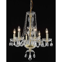 Elegant Lighting Princeton 6 Light Dining Chandelier in Gold with Royal Cut Clear Crystal 7836D20G/RC alternative photo thumbnail