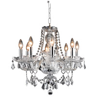 Elegant Lighting Princeton 8 Light Dining Chandelier in Chrome with Royal Cut Clear Crystal 7838D20C/RC alternative photo thumbnail