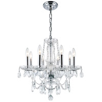 Elegant Lighting Princeton 8 Light Dining Chandelier in Chrome with Royal Cut Clear Crystal 7838D20C/RC photo thumbnail