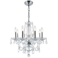 Elegant Lighting V7838D20C/RC Princeton 8 Light 20 inch Chrome Dining Chandelier Ceiling Light
