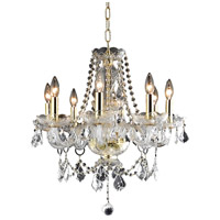 Elegant Lighting Princeton 8 Light Dining Chandelier in Gold with Royal Cut Clear Crystal 7838D20G/RC alternative photo thumbnail