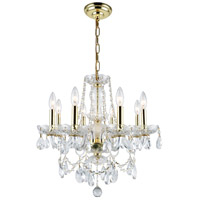 Elegant Lighting Princeton 8 Light Dining Chandelier in Gold with Royal Cut Clear Crystal 7838D20G/RC