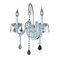Elegant Lighting Verona 2 Light Wall Sconce in Chrome with Royal Cut Clear Crystal 7852W2C/RC alternative photo thumbnail
