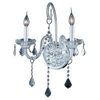 Elegant Lighting Verona 2 Light Wall Sconce in Chrome with Royal Cut Clear Crystal 7852W2C/RC