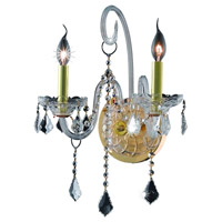 Elegant Lighting Verona 2 Light Wall Sconce in Gold with Royal Cut Clear Crystal 7852W2G/RC