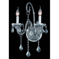 Elegant Lighting Verona 2 Light Wall Sconce in Silver Shade with Swarovski Strass Silver Shade Crystal 7852W2SS-SS/SS alternative photo thumbnail