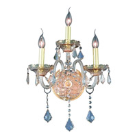 Elegant Lighting Verona 3 Light Wall Sconce in Golden Shadow with Royal Cut Golden Shadow Crystal 7853W3GS-GS/RC alternative photo thumbnail