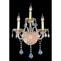 Elegant Lighting Verona 3 Light Wall Sconce in Golden Shadow with Swarovski Strass Golden Shadow Crystal 7853W3GS-GS/SS