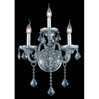 Elegant Lighting 7853W3SS-SS/RC Verona 3 Light 14 inch Silver Shade Wall Sconce Wall Light in Royal Cut alternative photo thumbnail