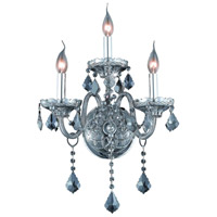 Elegant Lighting Verona 3 Light Wall Sconce in Silver Shade with Royal Cut Silver Shade Crystal 7853W3SS-SS/RC