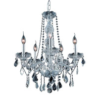 Elegant Lighting 7855D21C/SA Verona 5 Light 21 inch Chrome Dining Chandelier Ceiling Light in Clear, Spectra Swarovski alternative photo thumbnail